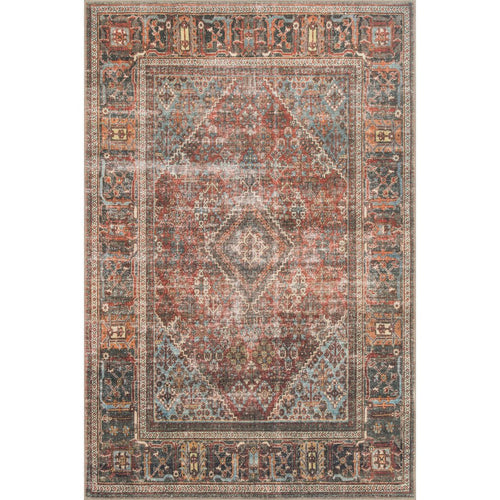 "Loloi Loren LQ-13 Traditional Power Loomed Area Rug-Rugs-Loloi-Rust-1'-6"" x 1'-6"" Sample-Heaven's Gate Home, LLC"
