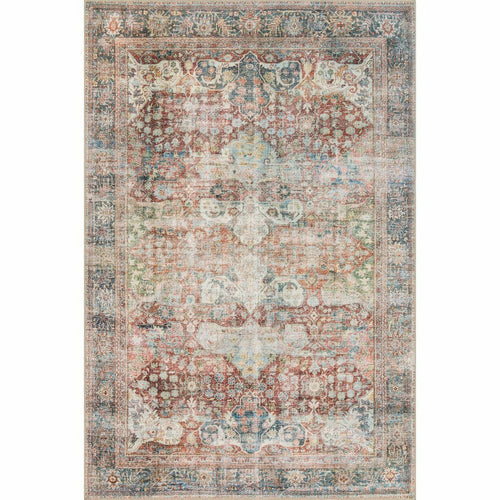 "Loloi Loren LQ-14 Traditional Power Loomed Area Rug-Rugs-Loloi-Rust-1'-6"" x 1'-6"" Sample-Heaven's Gate Home, LLC"