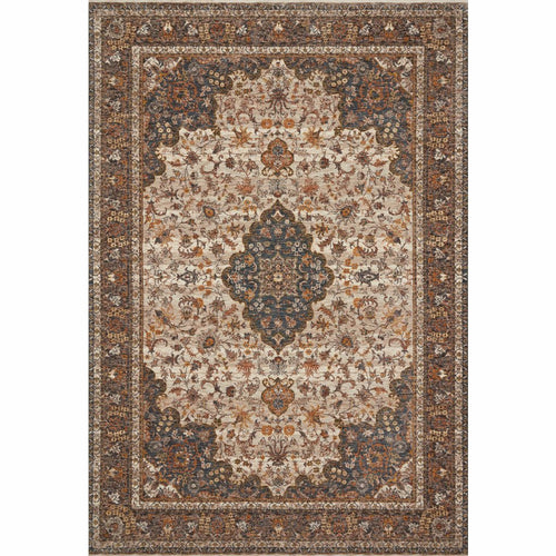 "Loloi Lourdes LOU-01 Traditional Power Loomed Area Rug-Rugs-Loloi-Natural-18"" x 18"" Sample-Heaven's Gate Home, LLC"
