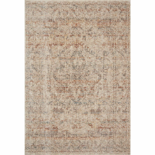 "Loloi Lourdes LOU-04 Traditional Power Loomed Area Rug-Rugs-Loloi-Ivory-18"" x 18"" Sample-Heaven's Gate Home, LLC"