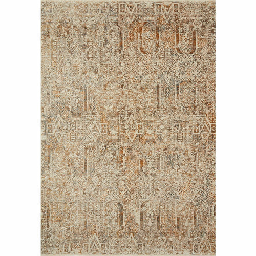 "Loloi Lourdes LOU-05 Traditional Power Loomed Area Rug-Rugs-Loloi-Rust-18"" x 18"" Sample-Heaven's Gate Home, LLC"