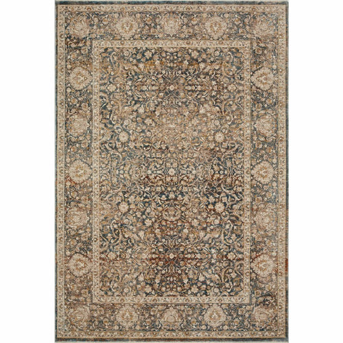 "Loloi Lourdes LOU-08 Traditional Power Loomed Area Rug-Rugs-Loloi-Charcoal-18"" x 18"" Sample-Heaven's Gate Home, LLC"