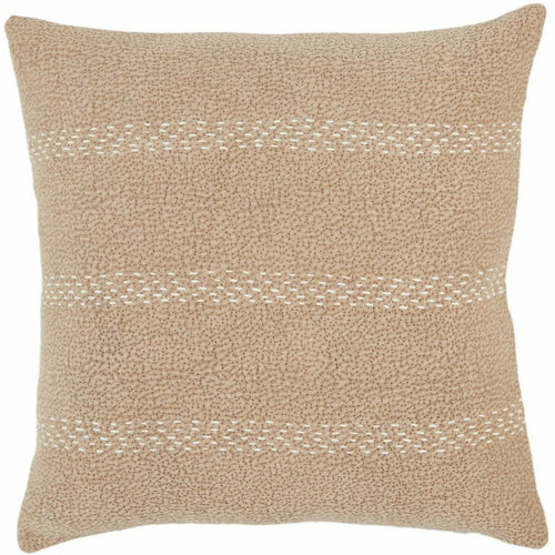 "Jaipur Living Trenton Lexington Taupe Handmade Pillow, Set/2-Pillows-Jaipur Living-Taupe-20"" x 20"", Set/2-Down-Heaven's Gate Home, LLC"