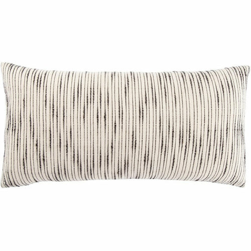 "Jaipur Living Linnean Mercado White Handmade Pillow, Set/2-Pillows-Jaipur Living-White-12"" x 24"", Set/2-Down-Heaven's Gate Home, LLC"