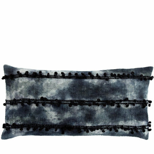 "Jaipur Living Fera Mercado Indigo Handmade Pillow-Pillows-Jaipur Living-Navy-14"" x 40""-Down-Heaven's Gate Home, LLC"