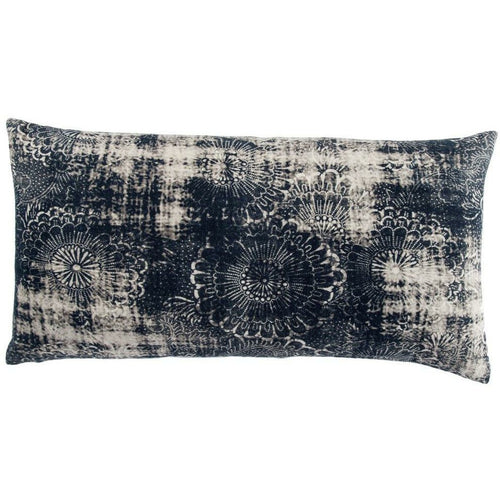 "Jaipur Living Holi Mercado Indigo Handmade Pillow, Set/2-Pillows-Jaipur Living-Navy-12"" x 24"", Set/2-Down-Heaven's Gate Home, LLC"