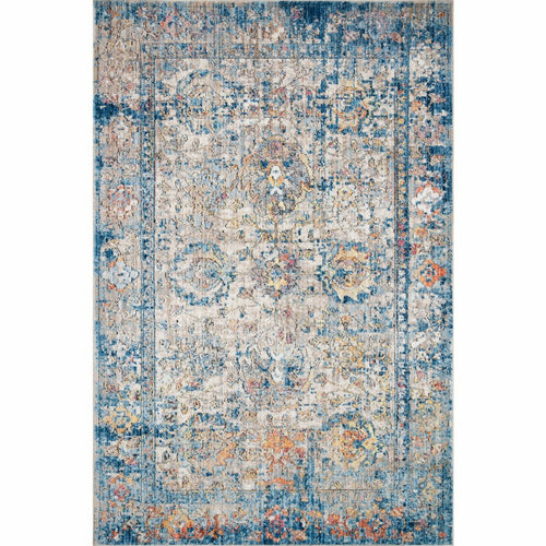 "Loloi Medusa MED-04 Contemporary Power Loomed Area Rug-Rugs-Loloi-Blue-1'-6"" x 1'-6"" Sample-Heaven's Gate Home, LLC"