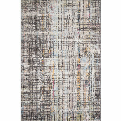 "Loloi Medusa MED-08 Contemporary Power Loomed Area Rug-Rugs-Loloi-Charcoal-1'-6"" x 1'-6"" Sample-Heaven's Gate Home, LLC"
