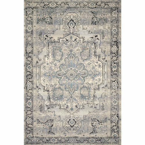 "Loloi Mika MIK-01 Indoor/Outdoor Power Loomed Area Rug-Rugs-Loloi-Gray-1'-6"" x 1'-6"" Sample-Heaven's Gate Home, LLC"