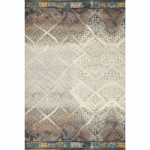 "Loloi Mika MIK-02 Indoor/Outdoor Power Loomed Area Rug-Rugs-Loloi-Teal-1'-6"" x 1'-6"" Sample-Heaven's Gate Home, LLC"