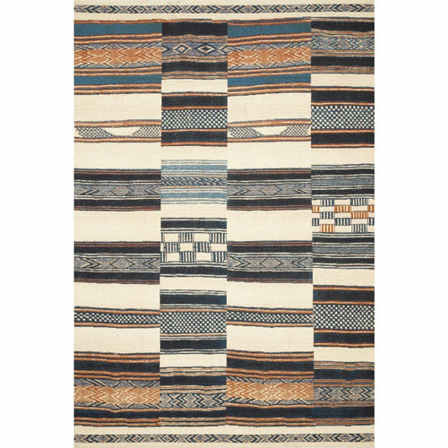 "Loloi Mika MIK-04 Indoor/Outdoor Power Loomed Area Rug-Rugs-Loloi-Multi-1'-6"" x 1'-6"" Sample-Heaven's Gate Home, LLC"