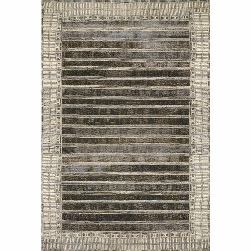 "Loloi Mika MIK-07 Indoor/Outdoor Power Loomed Area Rug-Rugs-Loloi-Charcoal-1'-6"" x 1'-6"" Sample-Heaven's Gate Home, LLC"