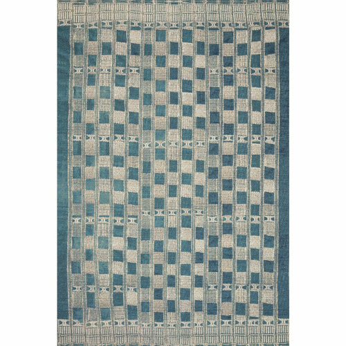 "Loloi Mika MIK-08 Indoor/Outdoor Power Loomed Area Rug-Rugs-Loloi-Blue-1'-6"" x 1'-6"" Sample-Heaven's Gate Home, LLC"