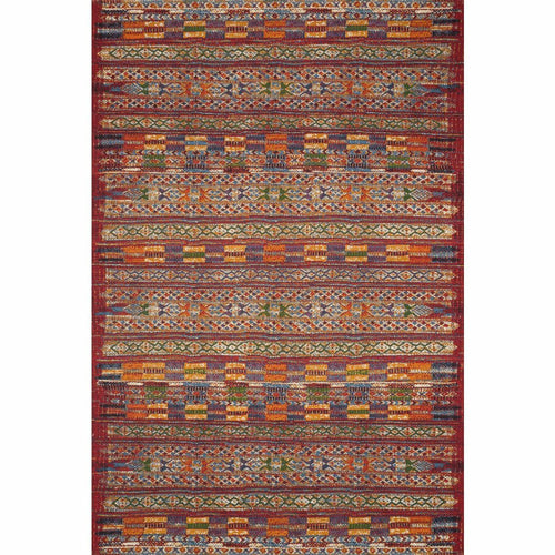 "Loloi Mika MIK-09 Indoor/Outdoor Power Loomed Area Rug-Rugs-Loloi-Red-1'-6"" x 1'-6"" Sample-Heaven's Gate Home, LLC"