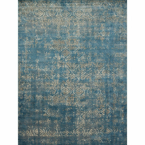"Loloi Millennium MV-05 Transitional Power Loomed Area Rug-Rugs-Loloi-Blue-1'-6"" x 1'-6"" Sample-Heaven's Gate Home, LLC"