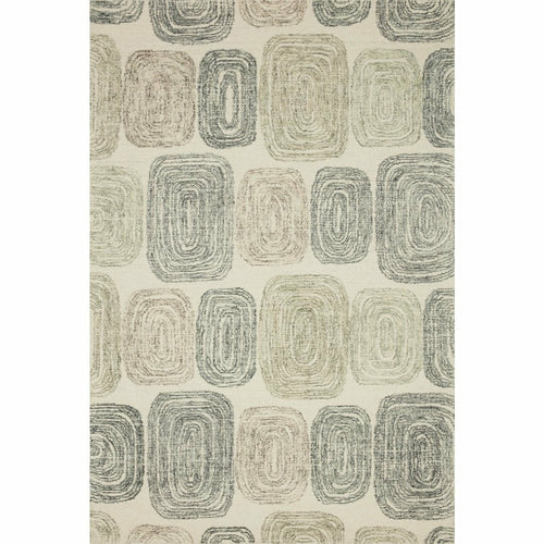 "Loloi Milo MLO-01 Contemporary Hand Tufted Area Rug-Rugs-Loloi-Charcoal-18"" x 18"" Sample-Heaven's Gate Home, LLC"