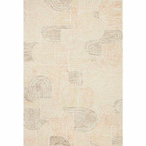 "Loloi Milo MLO-02 Contemporary Hand Tufted Area Rug-Rugs-Loloi-Ivory-18"" x 18"" Sample-Heaven's Gate Home, LLC"