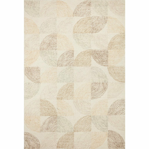 "Loloi Milo MLO-03 Contemporary Hand Tufted Area Rug-Rugs-Loloi-Ivory-18"" x 18"" Sample-Heaven's Gate Home, LLC"