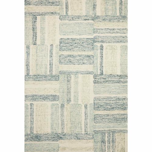 "Loloi Milo MLO-04 Contemporary Hand Tufted Area Rug-Rugs-Loloi-Aqua-18"" x 18"" Sample-Heaven's Gate Home, LLC"