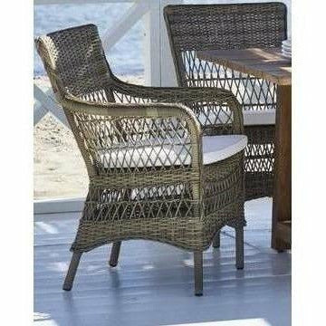 Sika-Design Georgia Garden Marie Dining Arm Chair w/ Cushion, Outdoor-Dining Chairs-Sika Design-Antique-Polyester Snow White Cushion-Heaven's Gate Home
