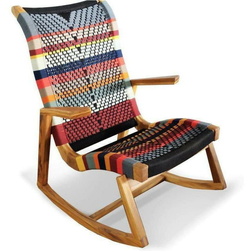 Masaya Amador Rocking Chair, San Geronimo Pattern-Rocking Chairs-Masaya & Co.-Royal Mahogany-Heaven