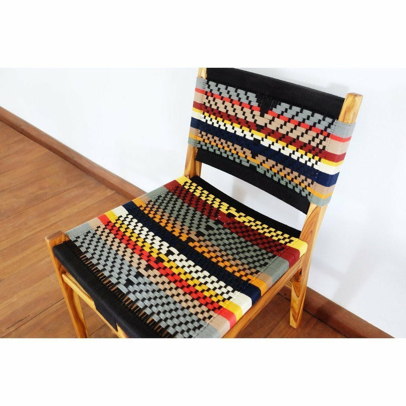 Masaya Chontales Dining Chair, San Geronimo Pattern-Dining Chairs-Masaya & Co.-Heaven's Gate Home