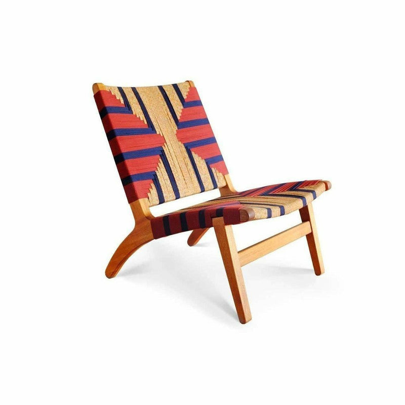Masaya Lounge Chair, Momotombo Pattern-Lounge Chairs-Masaya & Co.-Royal Mahogany-Heaven's Gate Home