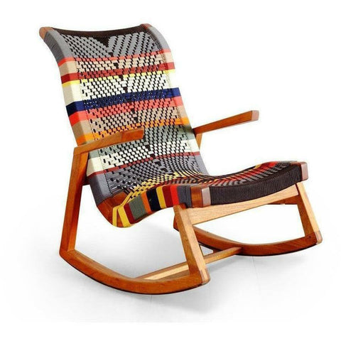 Masaya Amador Rocking Chair, San Geronimo Pattern-Rocking Chairs-Masaya & Co.-Royal Mahogany-Heaven's Gate Home