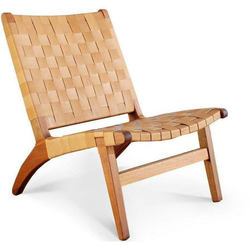Masaya Lounge Chair, Leather/Royal Mahogany-Lounge Chairs-Masaya & Co.-Barley Leather-Heaven's Gate Home, LLC