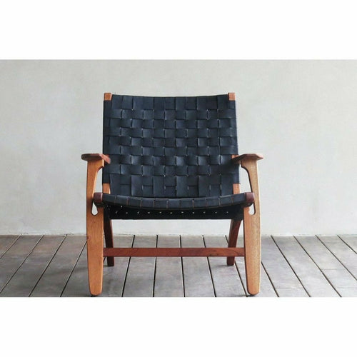 Masaya Abuelo Arm Chair, Leather-Lounge Chairs-Masaya & Co.-Heaven's Gate Home, LLC