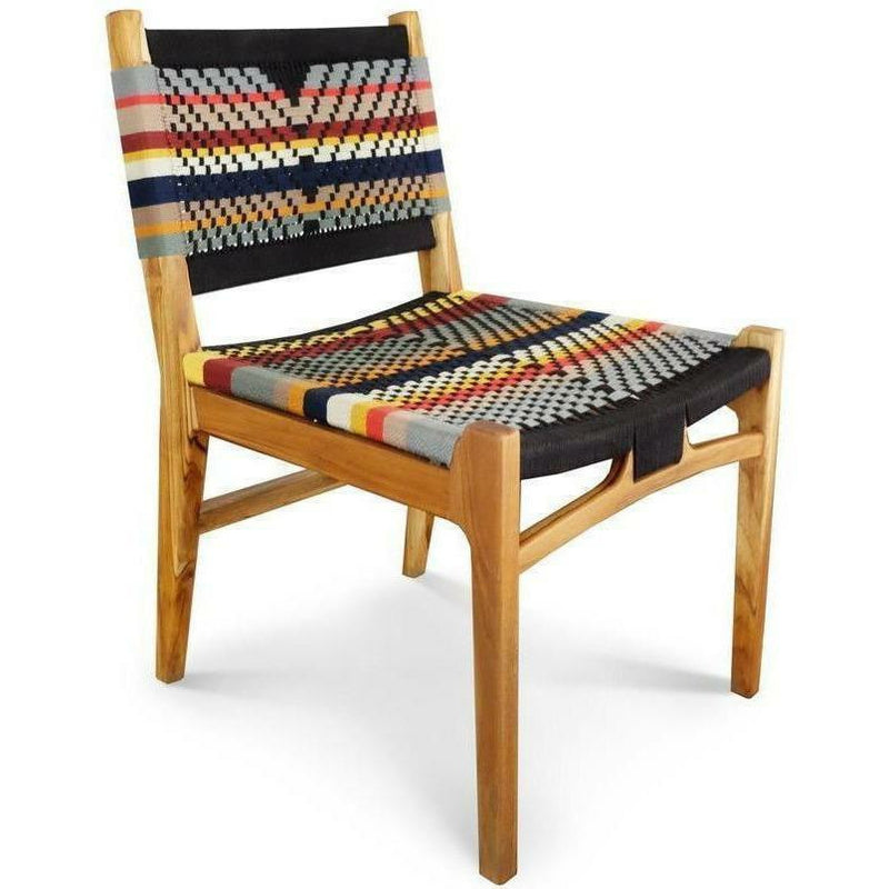 Masaya Chontales Dining Chair, San Geronimo Pattern-Dining Chairs-Masaya & Co.-Teak-Heaven's Gate Home