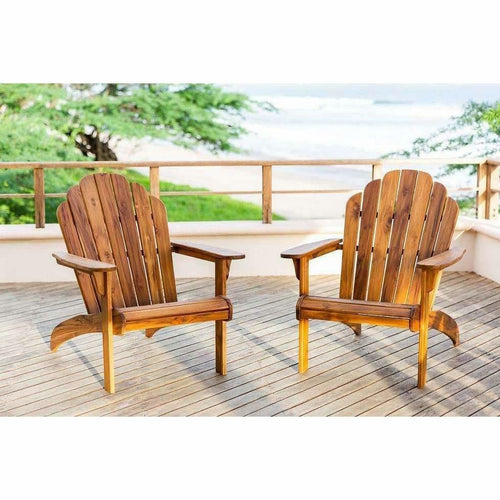 Masaya Adirondack Chair - Classic Teak, Indoor/Outdoor-Lounge Chairs-Masaya & Co.-Heaven's Gate Home, LLC