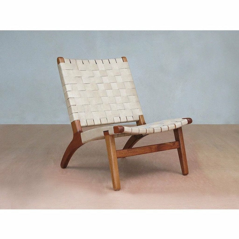 Masaya Lounge Chair, Leather/Royal Mahogany-Lounge Chairs-Masaya & Co.-Natural Leather-Heaven's Gate Home