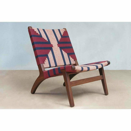 Masaya Lounge Chair, Momotombo Pattern-Lounge Chairs-Masaya & Co.-Rosita Walnut-Heaven's Gate Home, LLC