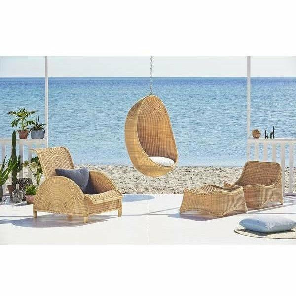 Sika-Design Exterior Chill Chair and Stool, Outdoor-Lounge Chairs-Sika Design-Natural-Heaven's Gate Home