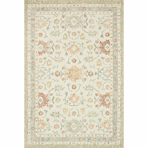 "Loloi Norabel NOR-03 Contemporary Hooked Area Rug-Rugs-Loloi-Ivory-1'-6"" x 1'-6"" Sample-Heaven's Gate Home, LLC"