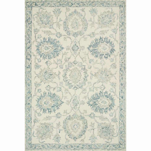 "Loloi Norabel NOR-04 Contemporary Hooked Area Rug-Rugs-Loloi-Ivory-1'-6"" x 1'-6"" Sample-Heaven's Gate Home, LLC"