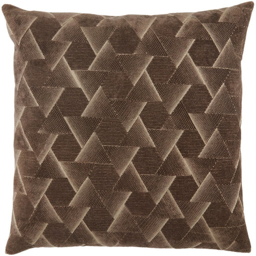 "Jaipur Living Jacques Nouveau Dark Taupe Pillow-Pillows-Jaipur Living-Taupe-22"" x 22""-Down-Heaven's Gate Home, LLC"