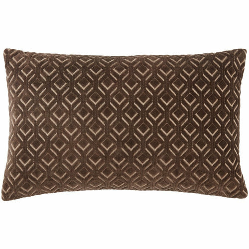 "Jaipur Living Colinet Nouveau Dark Taupe Pillow, Set/2-Pillows-Jaipur Living-Taupe-13"" x 21"", Set/2-Down-Heaven's Gate Home, LLC"