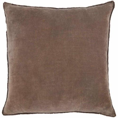 "Jaipur Living Sunbury Nouveau Dark Taupe Pillow, Set/2-Pillows-Jaipur Living-Taupe-26"" x 26"", Set/2-Down-Heaven's Gate Home, LLC"