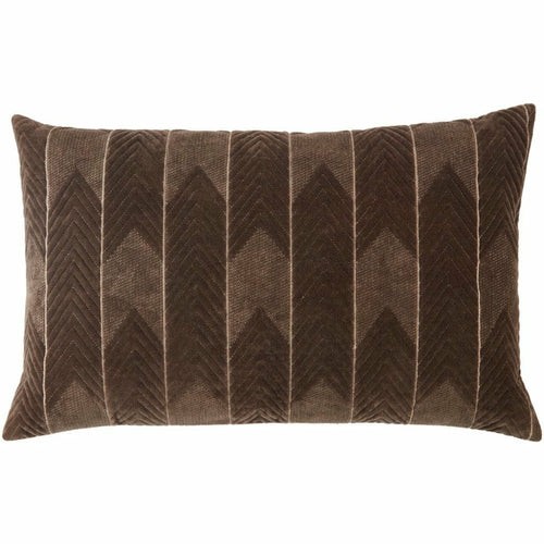 "Jaipur Living Bourdelle Nouveau Dark Taupe Pillow, Set/2-Pillows-Jaipur Living-Taupe-16"" x 24"", Set/2-Down-Heaven's Gate Home, LLC"