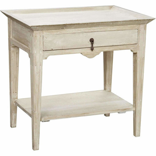 CFC Lily Reclaimed Lumber Nightstand, Gray Wash *Quick Ship*-Nightstands-CFC-Heaven's Gate Home