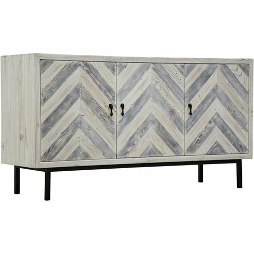 CFC Reclaimed Lumber Chevron Gray Sideboard, Small-Sideboards-CFC-Heaven's Gate Home, LLC