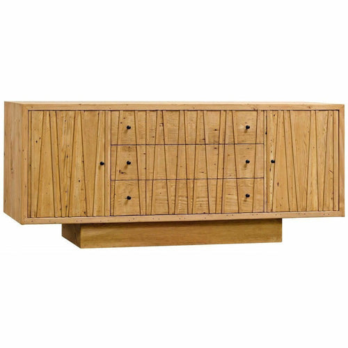 CFC Ranunculus 3-Drawer Reclaimed Lumber Sideboard, Light Brown *Quick Ship*-Sideboards-CFC-Heaven's Gate Home