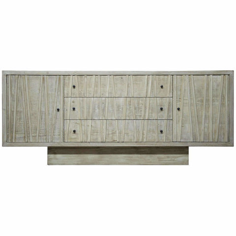 CFC Ranunculus 3-Drawer Reclaimed Lumber Sideboard, Gray Wash *Quick Ship*-Sideboards-CFC-Heaven's Gate Home