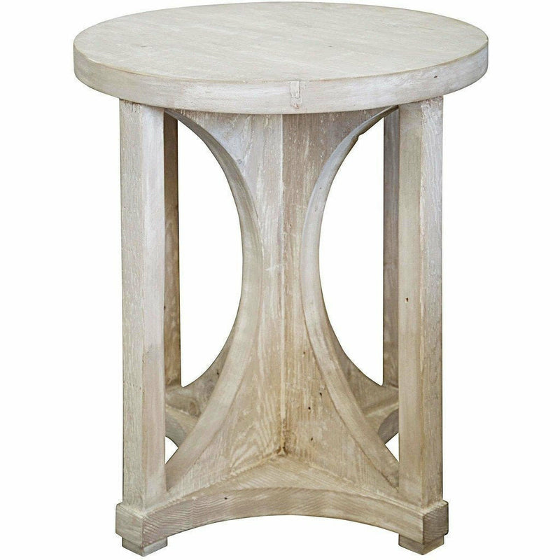 CFC Freesia Reclaimed Lumber Side Table, Grey Wash *Quick Ship*-Side Tables-CFC-Heaven's Gate Home