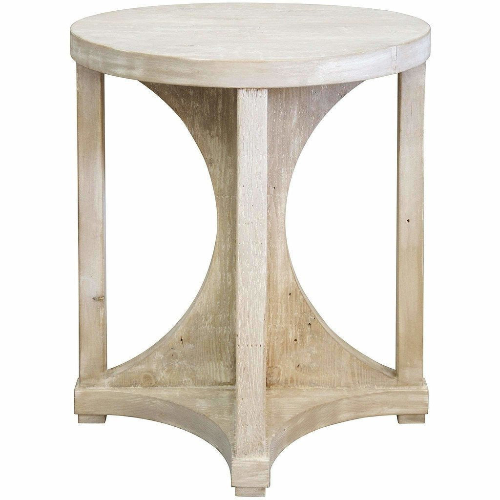 CFC Freesia Reclaimed Lumber Side Table, Grey Wash *Quick Ship*-Side Tables-CFC-Heaven
