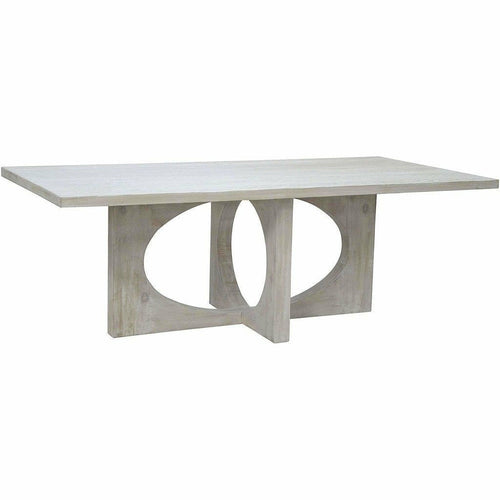 "CFC Buttercup Reclaimed Lumber Dining Table, Gray Wash, 96"" L *Quick Ship*-Dining Tables-CFC-Heaven's Gate Home"