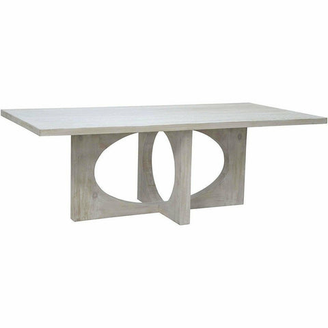 CFC Buttercup Reclaimed Lumber Dining Table, Gray Wash, 96
