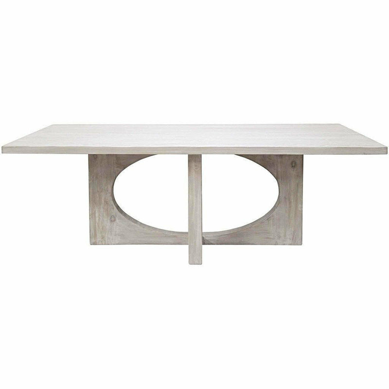 "CFC Buttercup Reclaimed Lumber Dining Table, Gray Wash, 86"" L *Quick Ship*-Dining Tables-CFC-Heaven's Gate Home"